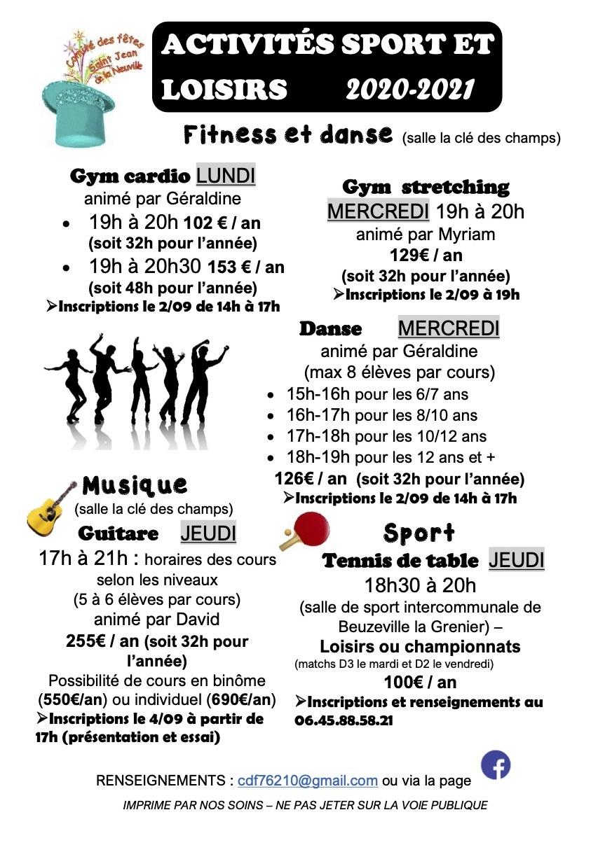 Activités et Sports St Jean de la Neuville